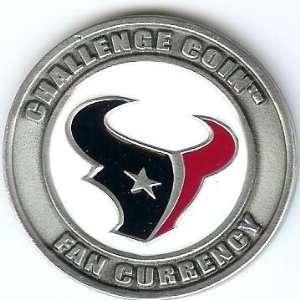 NFL Houston Texas Poker Guard with black velvet pouch