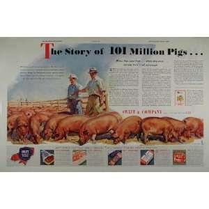 Pen Lot Hog Pork Swift Meat WW2   Original Print Ad: Home & Kitchen