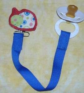 Ladybug Lady Bug BABY Paci Pacifier Binky Pacifier Holder Clip~