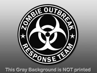 Response Team Sticker   decal biohazard sign star funny GO
