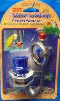 PPBA572 BIRD SPINNING MIRROR & PERCH FEEDER/WATERER