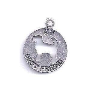 com BUY 1 GET 1 OF SAME FREE/My Best Friend/Dogs  Silvertone Charm