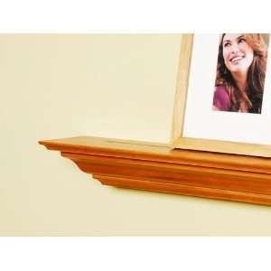 Inch x 3.25 Inch x 5.25 Inch Corona Crown Molding Wall Shelf Honey Oak