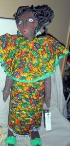 OOAK Beautiful Rafiki Wax Doll Black African Doll by Kasongo Mwema