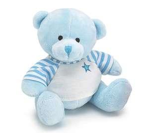 NEW Baby Boy PLUSH BLUE BEAR w/ Tee Shirt Stuffed 6