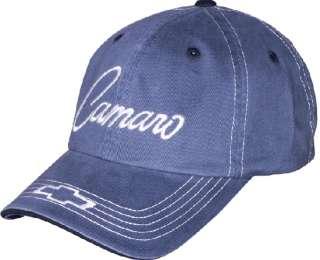 Chevrolet Chevy Camaro Script Hat Cap Blue OSFM NWT