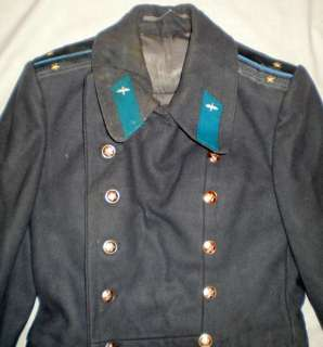 Vintage Russian Soviet Military Army Officer Winter Overcoat Shinel