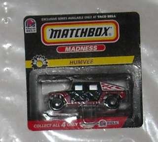 1998 MATCHBOX TACO BELL PREMIUM HUMVEE diecast MOC