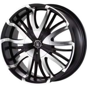 Von Max VM6 17x7 Black Wheel / Rim 5x4.25 & 5x4.5 with a 40mm Offset
