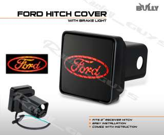 BULLY FORD OVAL TRAILER BRAKE LIGHT HITCH PLUG COVER 2