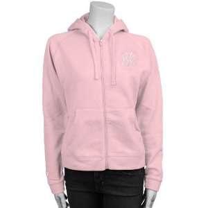 York Yankees Pink Ladies Full Zip Hoody Sweatshirt
