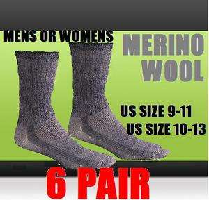 Extreme Thick Merino Wool Hiking Rugged Outdoor Socks All Szs
