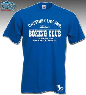 MUHAMMAD ALI T SHIRT CASSIUS CLAY 5TH STREET BOXING