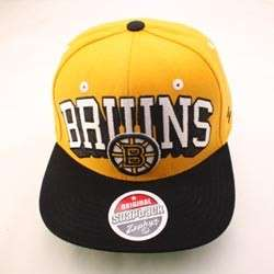 BOSTON BRUINS NHL SNAPBACK HAT CAP TEAM COLOR BLOCKBUSTER