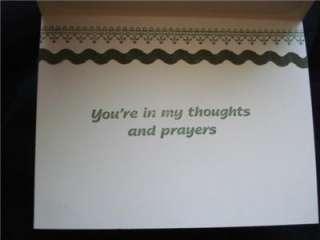 Handmade Sympathy Card Stampin Up Blossom Kaiser Paper