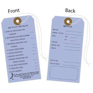 Walking Bird Publications Bicycle Price Hang Tags Form Wb