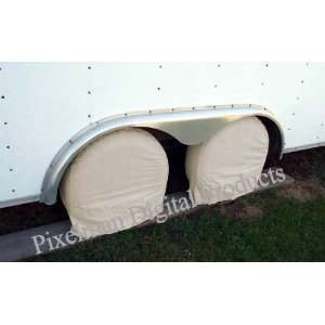 4 Wheel Tire Covers Car Boat Trailer up to 24 to 26 for
