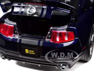 2010 SHELBY MUSTANG GT 500 SUPER SNAKE BLUE 1/18 SHELBY COLLECTIBLES