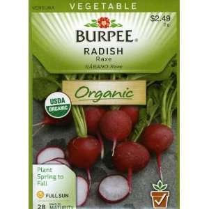 Burpee 65240 Organic Radish Raxe Seed Packet Patio, Lawn