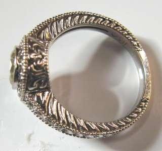 18K White Gold .82 ct. Brilliant Round Cut Diamond Wedding Ring Deco