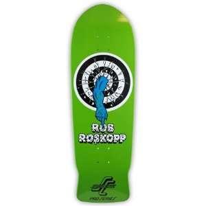 Santa Cruz Roskopp Target 1 Green Re Issue Deck (10.00)