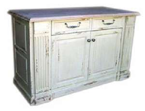 KITCHEN ISLAND English MayFlair Distressed Painted Furniture Pullout