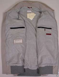 BRUNELLO CUCINELLI VEST $1395 LIGHT BEIGE/GRAY DUAL ZIP VEST GILET XL