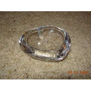 Crystal Glass Heart Pin Tray or Dish (Sweden): Everything Else
