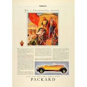 Ad Antique Packard Convertible Sports Car Richard Co Lion Sultan