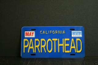 Jimmy Buffett Parrothead Cali replica license plate