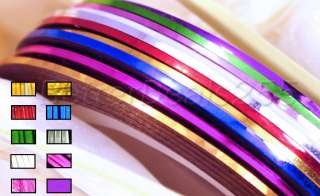 New 10 Color Rolls Striping Tape Line Nail Art Sticker