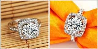 Gorgeous Swarovski Crystal 18K White Gold GP 1.5ct Emulational Diamond