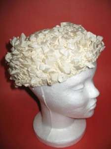 Ivory Ladies WOVEN RIBBON HAT Cap Unique Stretchy Fits All