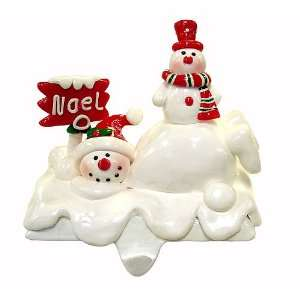 5 Snowman NOEL Christmas Stocking Holder #152134
