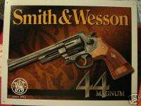 Tin Sign  Smith and Wesson  44 Magnum Gun