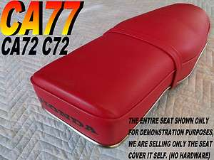 Replacement seat cover for Honda C72 C77 Dream 250 305 Red 119b