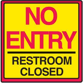 Safety Traffic Cone Accessories   No Entry Restroom Closed