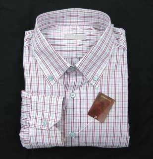 New STEFANO RICCI Plaid Dress Shirt 2XL XXL 18 NWT $750