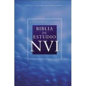 Editorial Vida Biblia de estudio NVI, piel especial, negro (Spanish