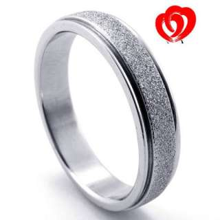 New Cool Women Men Silver Stainless Steel Ring Size7 11