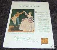 1944 Antique Capehart Farnsworth Radio Minuet Art Ad