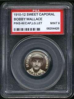 1910 P2 Sweet Caporal Pin Bobby Wallace LL PSA 9 Browns