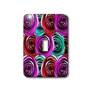 311 Multi colored Roses   Fun colorful rainbow roses   Light Switch