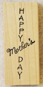 Northwoods Rubber Stamps Happy Mothers Day Card Making Phrase