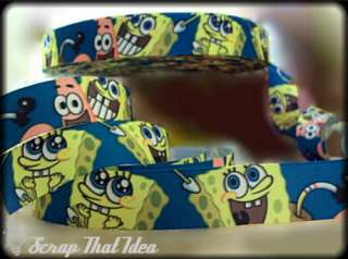 SPONGEBOB Ribbon 1 Grosgrain. Scrapbooking/Hair Bows. Patrick Star