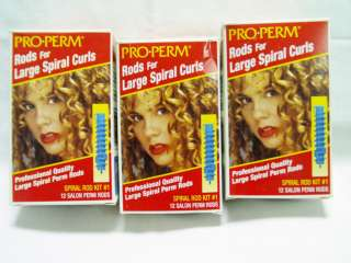 rods   Large Spiral Curls PRO PERM   Spiral Rod Kit #1   New in box