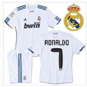 Ronaldo #7 10/11 Real Madrid Home Youth Soccer Jersey with