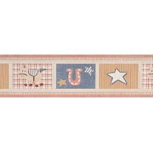Oshkosh Giddy up Horse Cowboy Wallpaper Border Baby