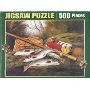American Speckled Trout 500pc Jigsaw Puzzle: Toys & Games