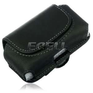 BLACK LEATHER CASE POUCH & BELT CLIP FOR SONY ZYLO W20 Electronics